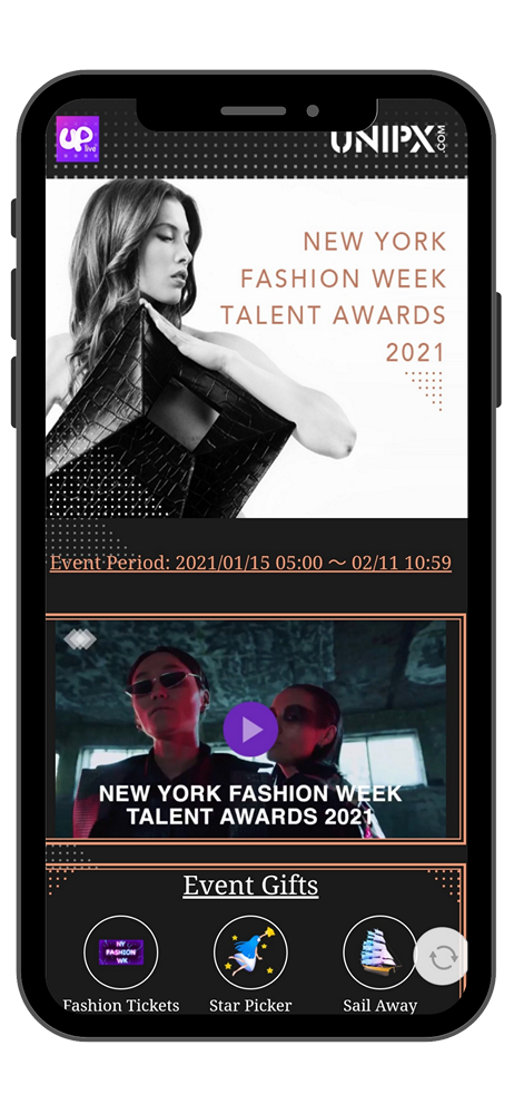 Enter the Award Event Page